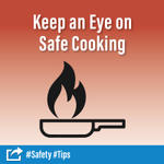 Are you head chef for the holidays? 👩🍳 When frying, grilling or broiling, never leave your food unattended. Thanksgiving has more home-cooking fires than any other day of the year with Thanksgiving Eve, Christmas and Christmas Eve close behind. #Safety #Tips