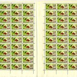 Image for the Tweet beginning: Complete sheet of propaganda stamps