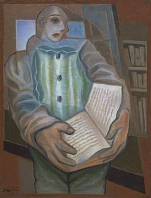 Pierrot with Book, 1924 #juangris #cubism<br>http://pic.twitter.com/dBFHSuv7Vq