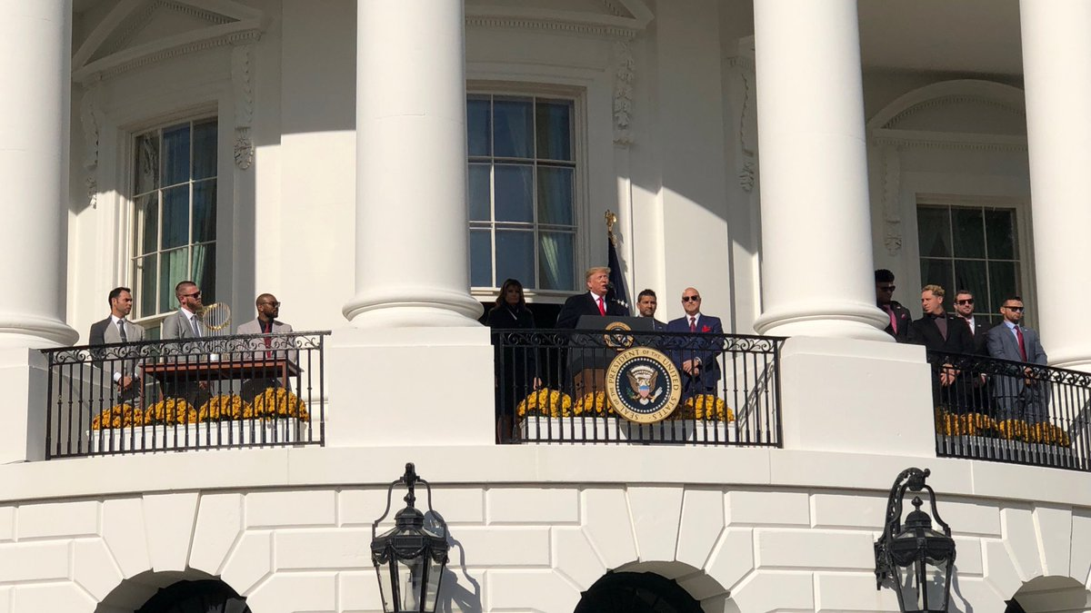Congratulations to the 2019 World Series Champion Washington Nationals! Great to join @POTUS and @FLOTUS in welcoming them to the @WhiteHouse today.
