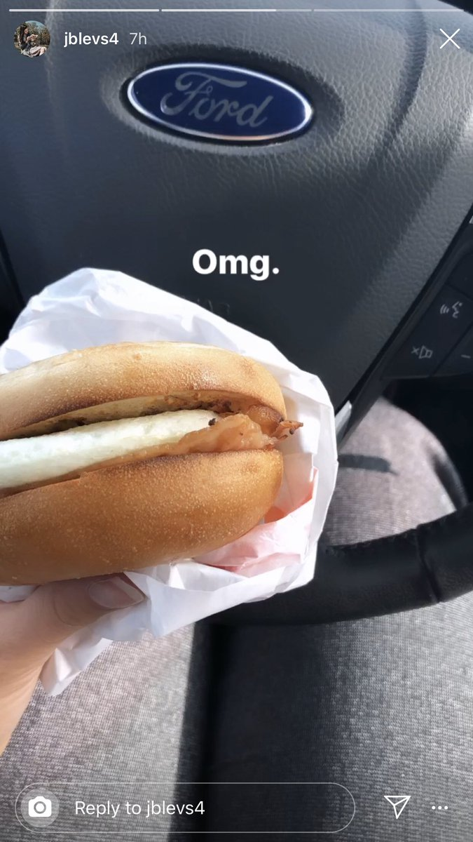 Me: hey did you eat in my car when you borrowed it today? Wife: ummm no why? Me: oh because there's crumbs everywhere. Wife: hmm that's weird LITERALLY MY WIFES INSTA STORY: