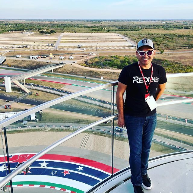 Amazing view from 251 feet above the cota_official track. It's been a great weekend with honda to drive the 2020 #CivicSi both on the street and track. hondaprojason was also here and he's a fun guy and fast race car driver on track! Full review coming on 11/7 at 9am EST.