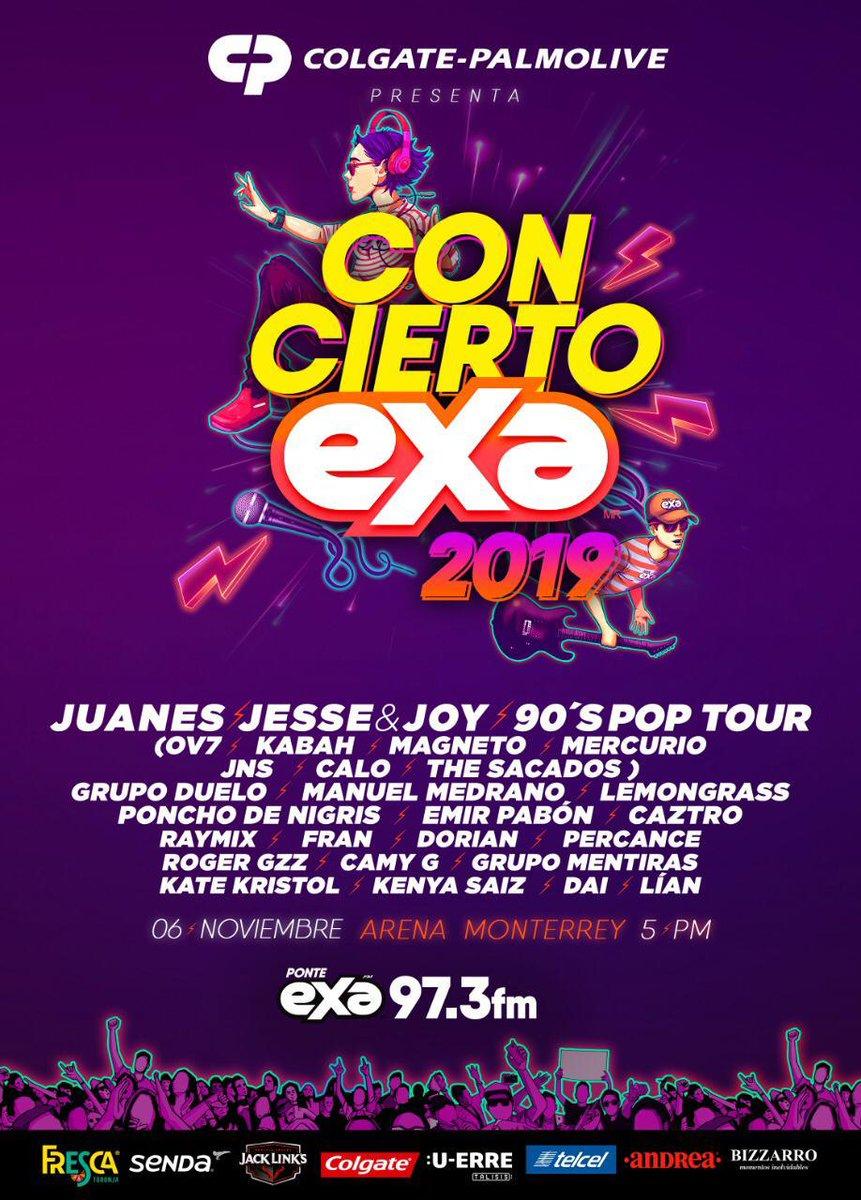 ¡Amigos queridos y amigas queridas de Monterrey! ¿Nos vemos el miércoles 6 de noviembre en el #ConciertoExa2019 con @exafm973? ¡Claro que sí! Los esperamos para cantar #TANTO 🎤🎸