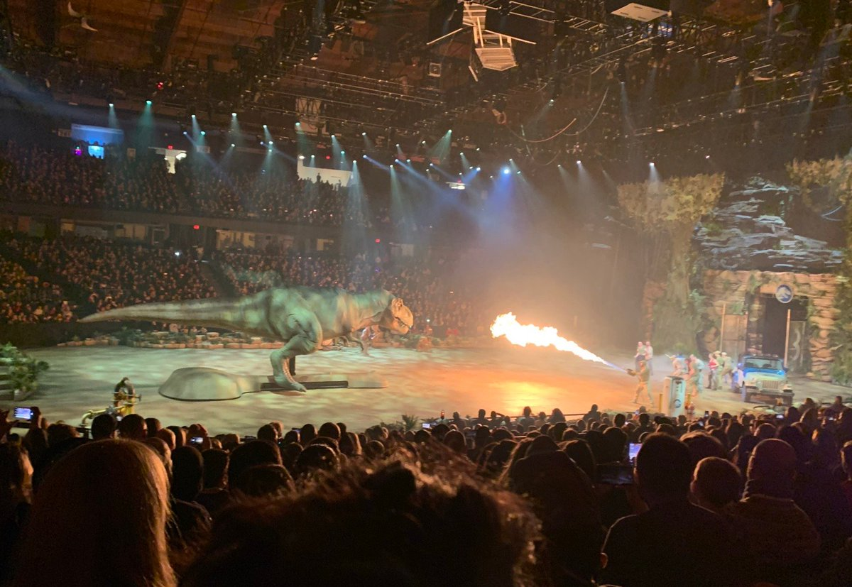 They spared no expense! #JurassicWorldLiveTour celebrated their World Premiere this past weekend at the Allstate Arena. Coming soon to a city near you. Get tickets now: jurassicworldlivetour.com