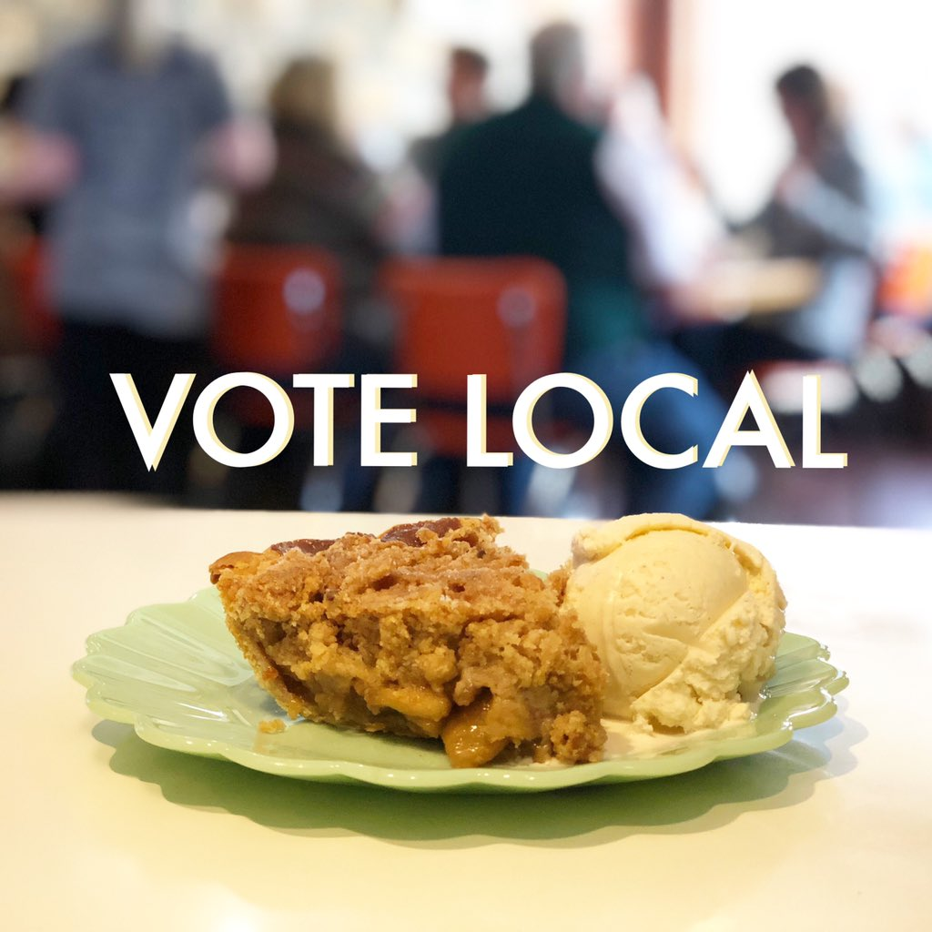 Local elections have local consequences! Voting and making caramel apple pie are two things we're sure to be doing tomorrow.