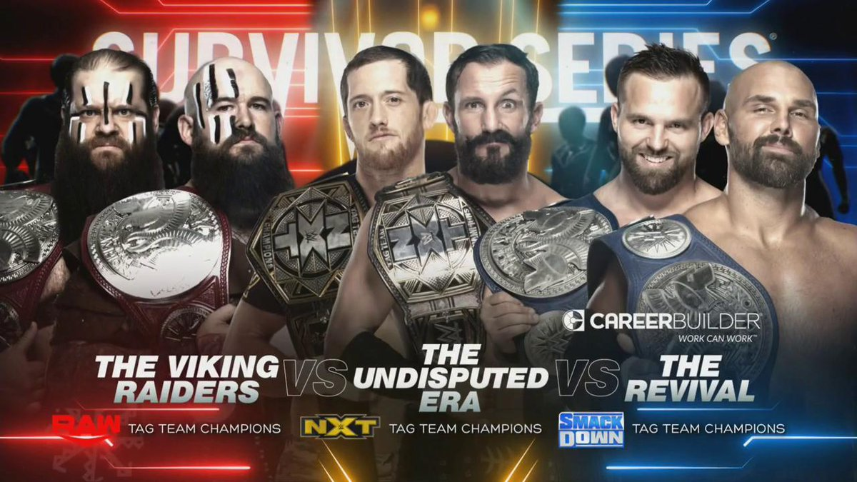 WWE Announces The Undisputed Era Vs. The Revival Vs. The Viking Raiders For Survivor Series