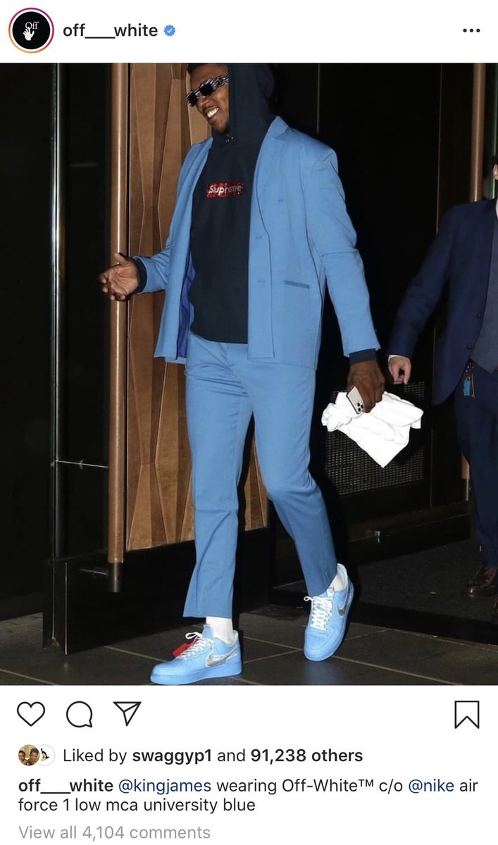 off white blue nike outfit