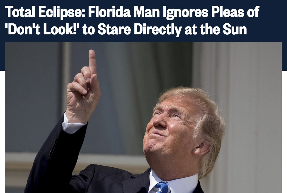 Trump changed his permanent residence to Florida, so we made a browser extension that changes his name to Florida Man. Download: MakeTrumpFloridaMan.com