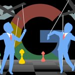 Image for the Tweet beginning: Here's another way #Google manipulates