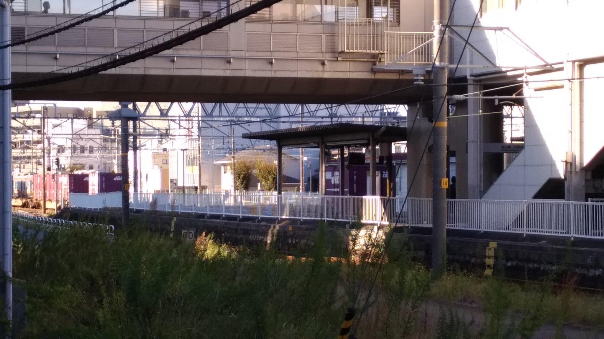 東海道本線の刈谷駅の人身事故現場の画像