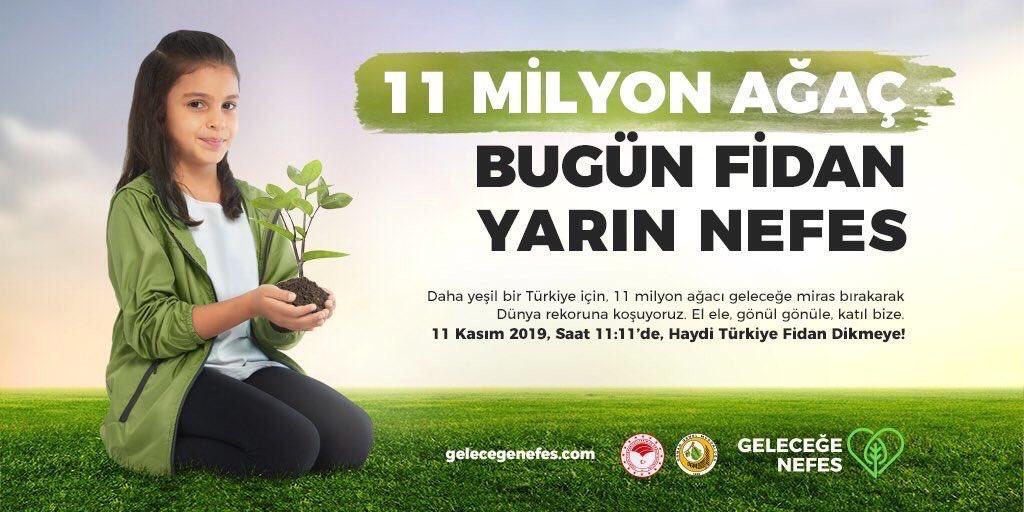 """Daha yeşil bir Türkiye için  """"El Ele Gönül Gönüle Katıl Bize"""" sloganıy…"""