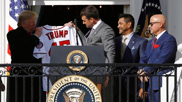 Trump honours World Series champion Nationals at White House