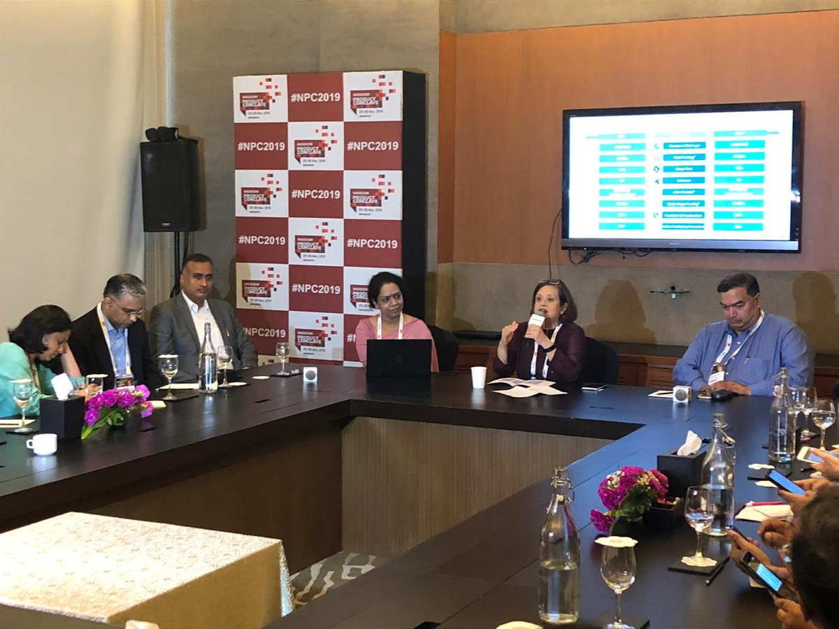 """""""We need more partnerships across corporates, startups, & academia. We need to figure out a way to unlock intellectual property in research centers & create more IPs."""" - Atul Batra, CTO, Manthan, at the @nasscom - @Zinnov Indian Tech #startup ecosystem report launch, 2019."""