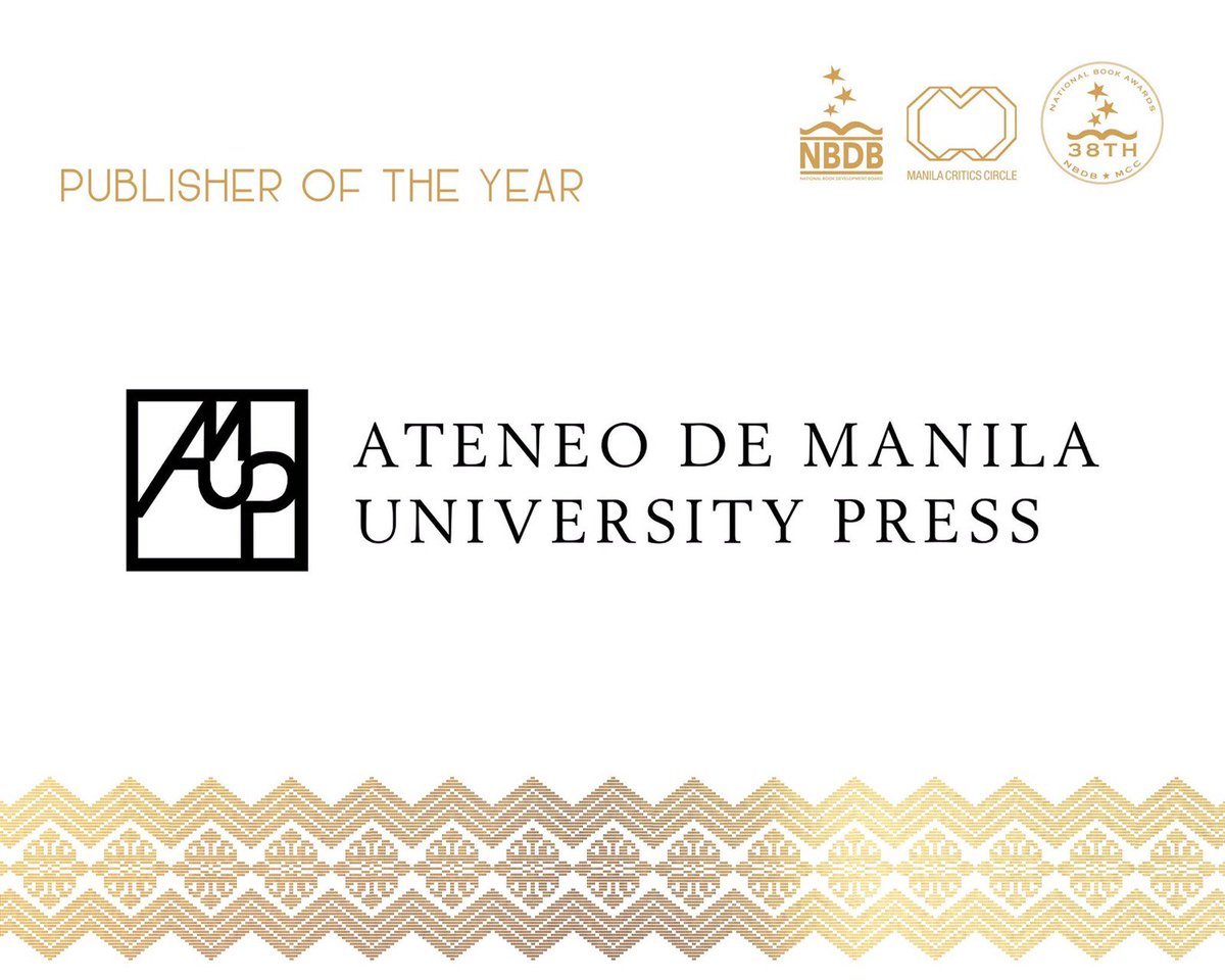 thank you for this honor, ateneo university press. 3-peat (as publisher of the year)! amdg.