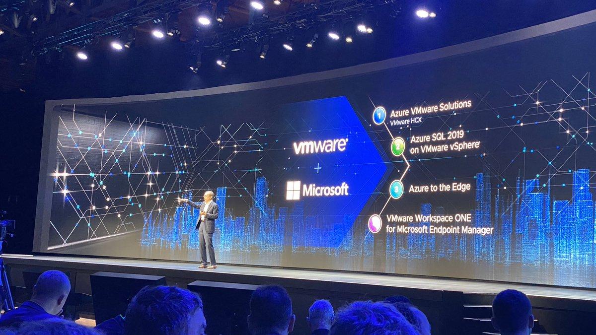 Le grand amour entre Microsoft Azure et VMware : HCX, Velocloud etc. #VMworld2019 #VMworld<br>http://pic.twitter.com/RV5v3QYQlZ