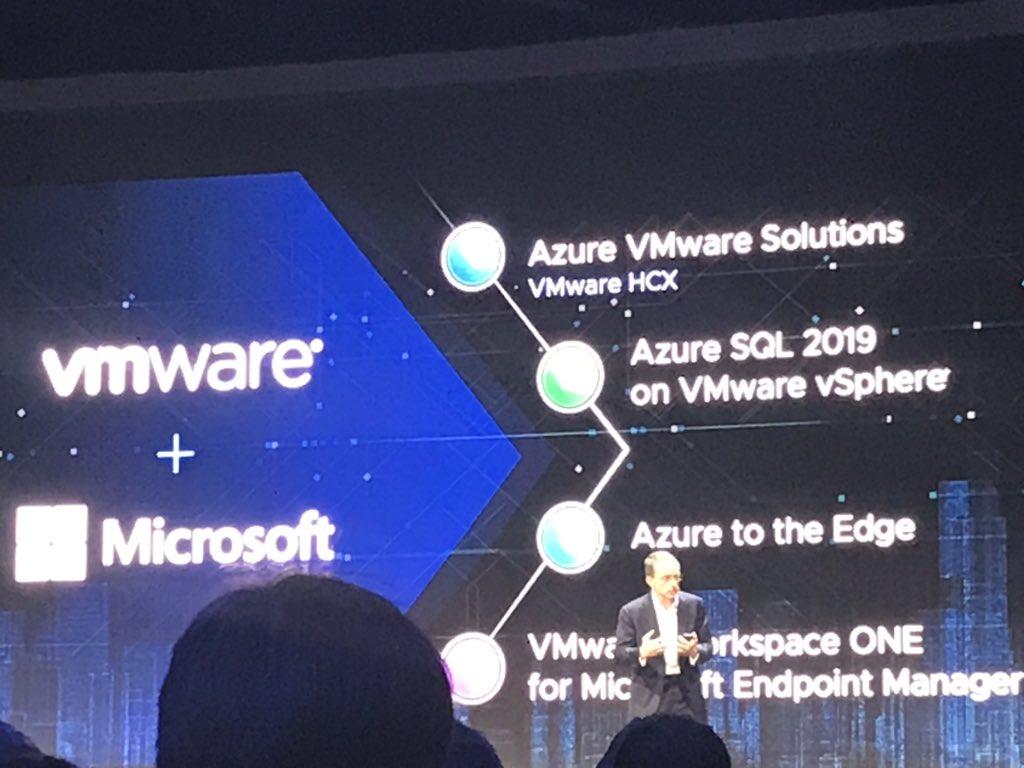 #vmware on #Microsoft Azure solutions intégration #VMworldEurope #vmworld3word<br>http://pic.twitter.com/mjh5nMsVWQ