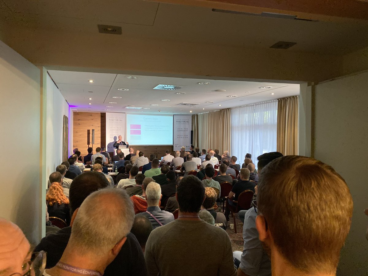 Crowded room at OSMC