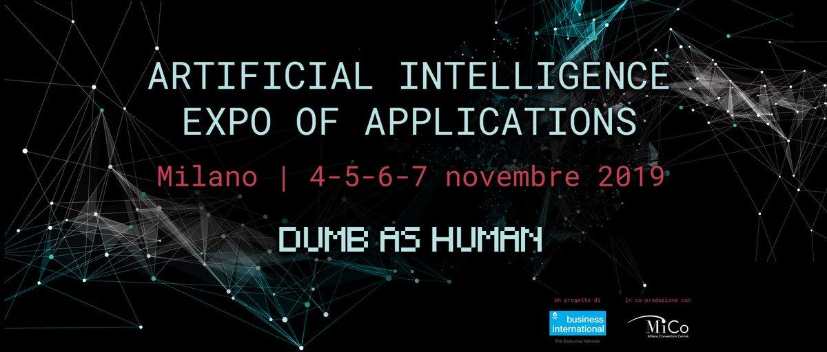 Fino al 7 novembre 2019 Milano ospiterà AIXA, Artificial Intelligence Expo.  La conferenza internazionale, dedicata all'Intelligenza Artificiale per le imprese e per il retail, ha in programma 100 ore di eventi e 70 incontri con oltre 200 speaker. https://t.co/SoyWMWRYU3 https://t.co/C8WidmEpZM