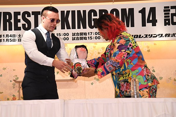 """NJPW Global on Twitter: """"Press conference report: Get the full details from  today's IWGP Junior Heavyweight Championship press conference, as Hiromu  Takahashi and Will Ospreay spoke to assembled media:  https://t.co/3IuXe3L27H #njpw #njwk14…"""