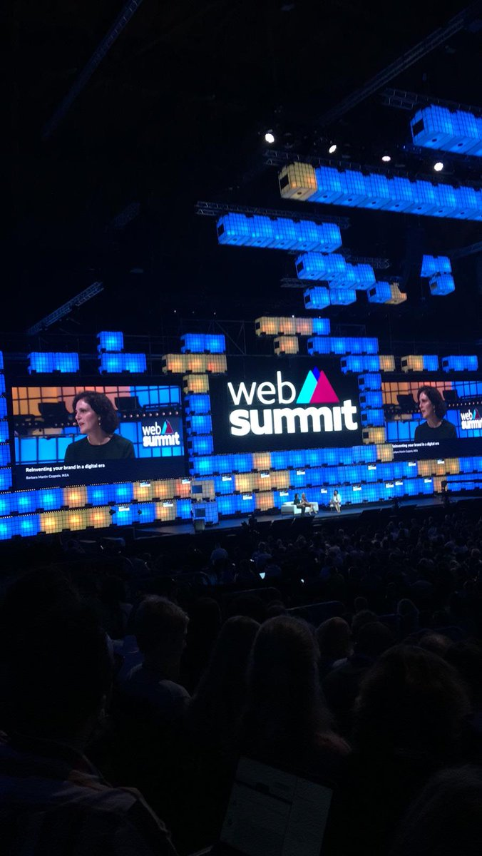 "Daily inspiration.🌟 Barbara Martin Coppola from IKEA ""Reinventing your brand in a digital area"" right now. #WebSummit"
