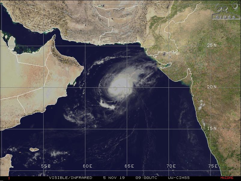MAHA re-curves towards Gujarat but likely to weaken rapidly, might hit Diu coast on Nov 7 morning, Heavy to very heavy rain likely