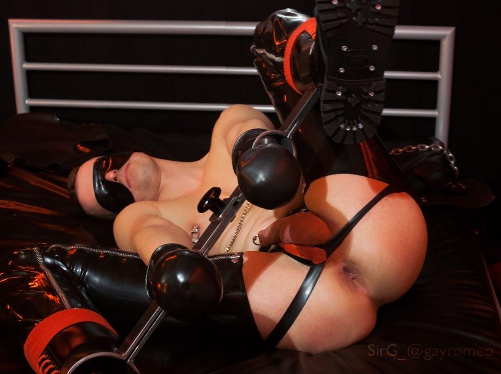Gay rubber bondage