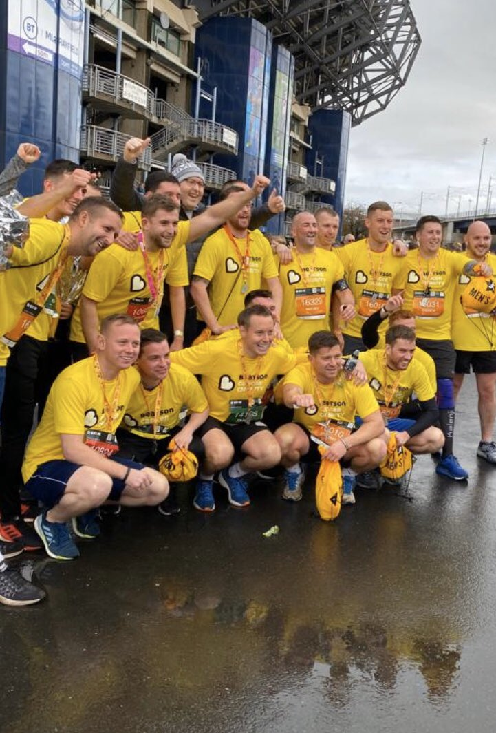 90mins in the tank on Saturday ⚽️ and completed the Edinburgh 10k on Sunday 🏃🏼♂️ (41mins 39 secs) in aid of the @Beatson_Charity who are currently treating my friend Scott.  Any small donations would be greatly appreciated.