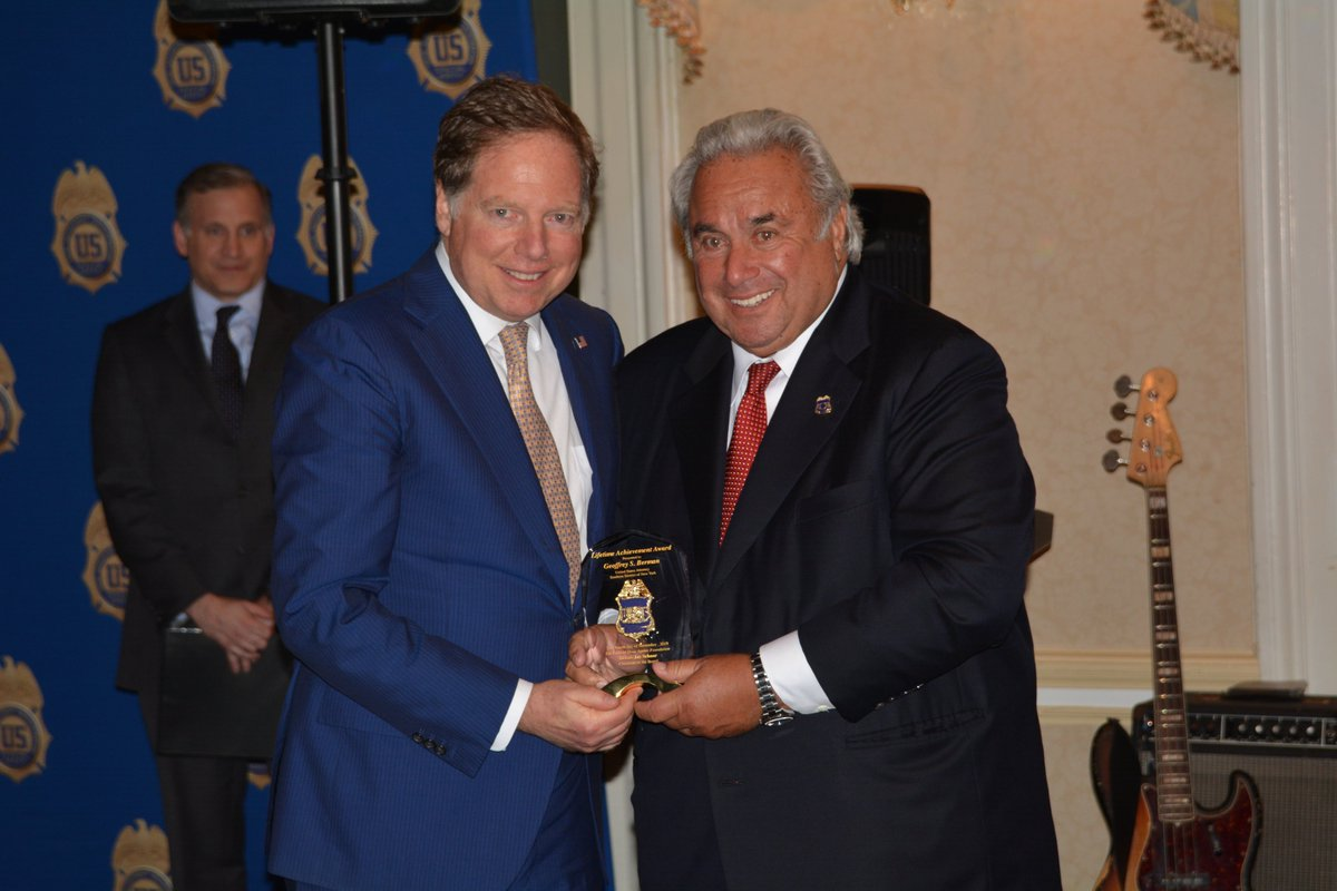 Last night- at the Annual Federal Drug Agents Foundation #FDAF True American Hero Award: Congratulations to United States Attorney Geoffrey Berman on your Lifetime Achievement Award.