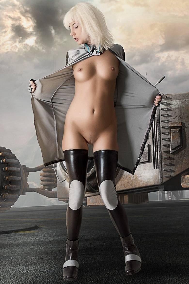 Sexy Alien Girl Sci Fi Art