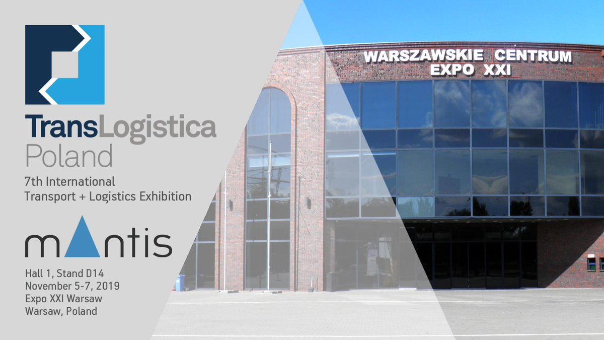 Visit our booth 1 / D14 at TransLogistica Poland 5-7 November 2019 at EXPO XXI Warsaw, Prądzyńskiego and find out how @MantisWMS can #Optimize your #Warehouse #WMS #LVS #logisticsvisionsuite #translogistica2019 https://t.co/JWpKR6CoyP