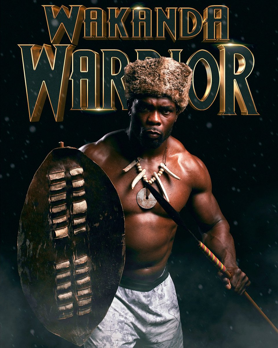 Defending the pride of Africa.  #WakandaWarrior #ufcmoscow #africarise