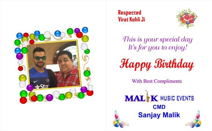 Happy birthday virat kohli  Mata rani bless you