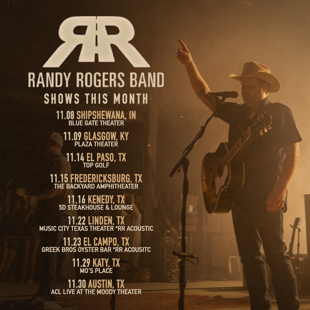 We've got a lot of great shows coming up in November. Grab your tickets now: bit.ly/RRBNovTix