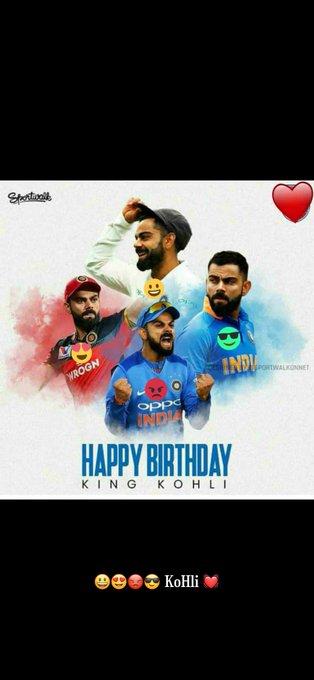 Happy Birthday my lovely virat koHli...