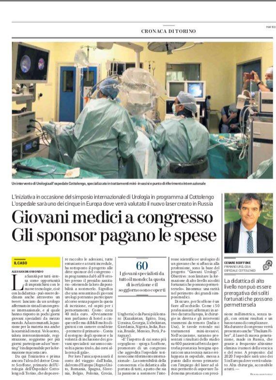 green laser prostata striscia ospedali torino vs