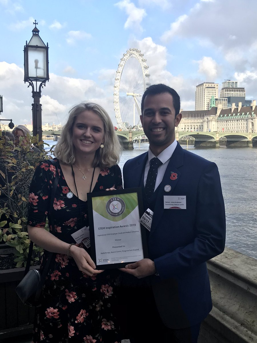 What an amazing day! Great day celebrating amazing STEM achievements 🏆🎖this would not have been possible without our brilliant team @kellylouisetuke and El and the rest of the radiotherapy department @MPHRadiotherapy #STEMinspiration #radiotherapy @STEMAmbassadors @Naman_Julka