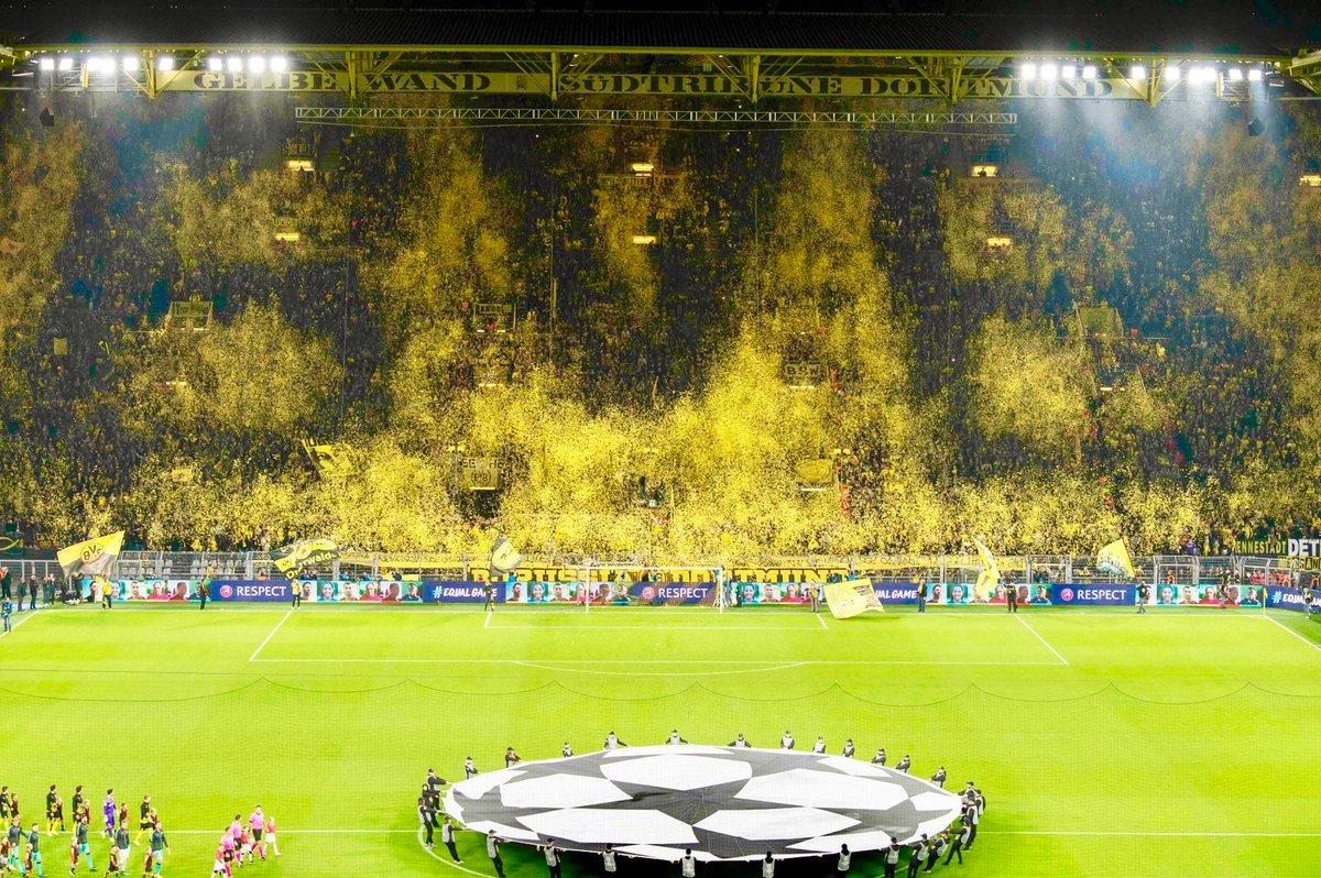 Шоу в исполнении болельщиков Боруссии, Боруссия Дортмунд - Барселона 2019
