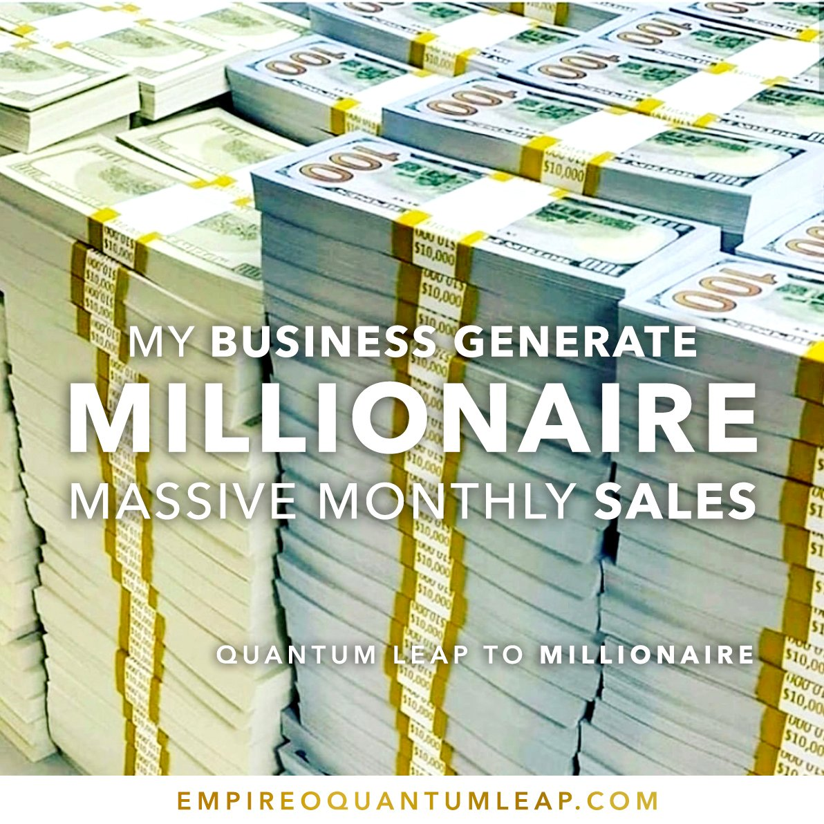 """Your BUSINESS GENERATE MILLIONAIRE massive monthly sales. 👔🥇🏆💵🏦  """"QUANTUM LEAP TO MILLIONAIRE""""💰💎 ▶️ I want to know more about the program https://t.co/zfXarp0sbB https://t.co/i9bzmssjjA"""