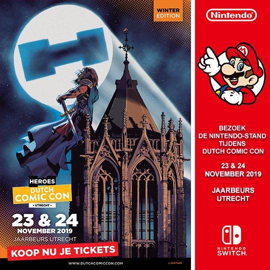 Pokémon Sword & Shield zullen speelbaar zijn op de @NintendoNL-stand bij @dutchcomiccon, op 23 en 24 november 2019.
