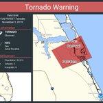 Image for the Tweet beginning: Tornado Warning including Port Salerno