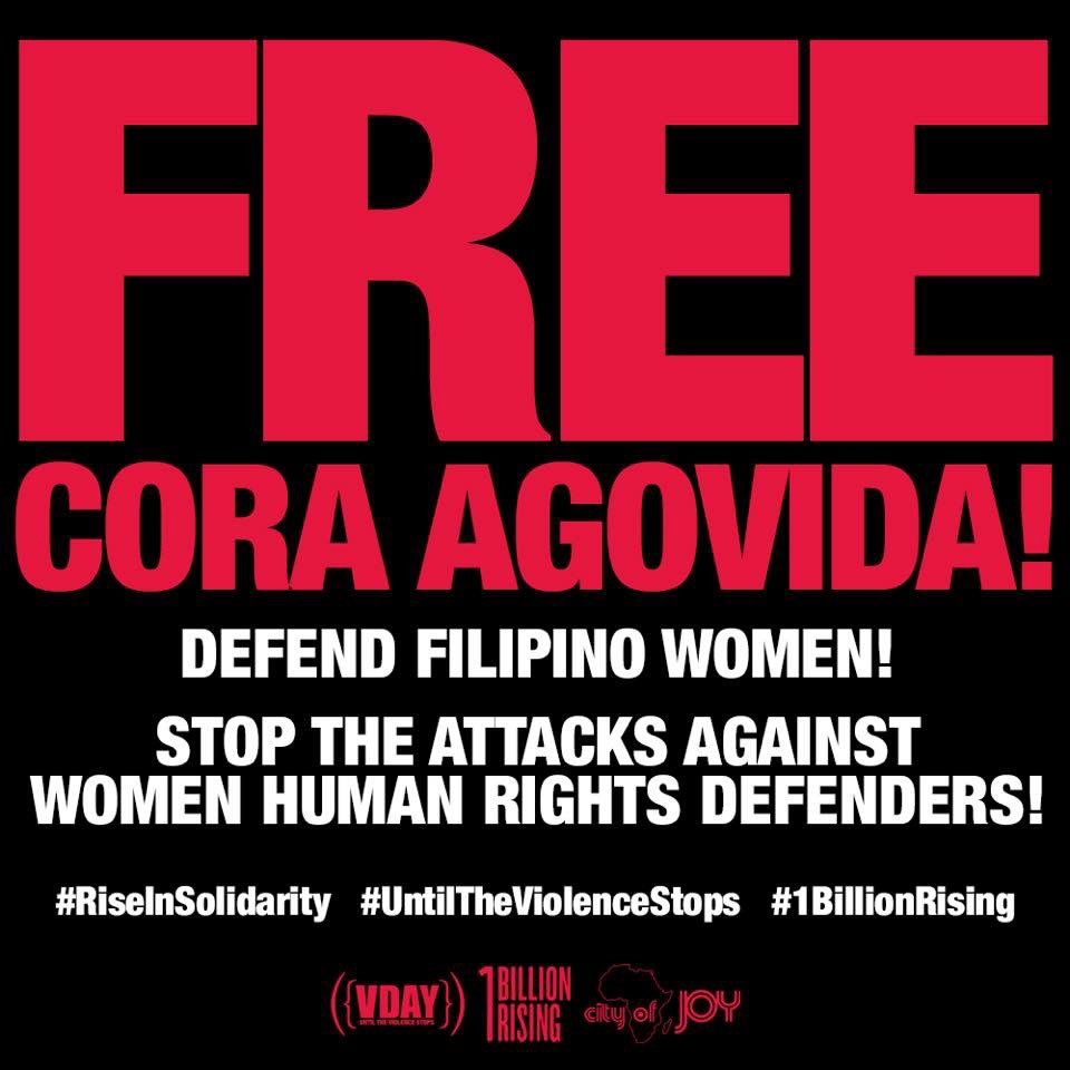 #1BillionRising STATEMENT IN SUPPORT OF CORA AGOVIDA, GABRIELA MANILA CHAIRPERSON/OBR ACTIVIST & ALL WOMEN HUMAN RIGHTS DEFENDERS IN THE PHILIPPINES: http://onebillionrising.org/solidaritywithgabriela…  #DefendFilipinoWomen #DefendGabriela #VDay #RiseResistUnite #RiseInSolidarity #UntilTheViolenceStopspic.twitter.com/yxTRtqGwoJ