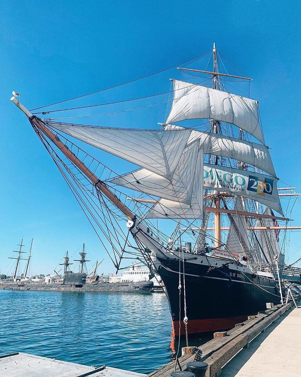 """El #MuseoMarítimo de @visitsandiego te está esperando para que conozcas el velero activo más antiguo del mundo """"Star Of India"""". Para saber más, visita el #CaliforniaWelcomeCenter que está al cruzar el @CrossBrdrXpress de Tijuana a California.  📷: notquiteapioneer"""