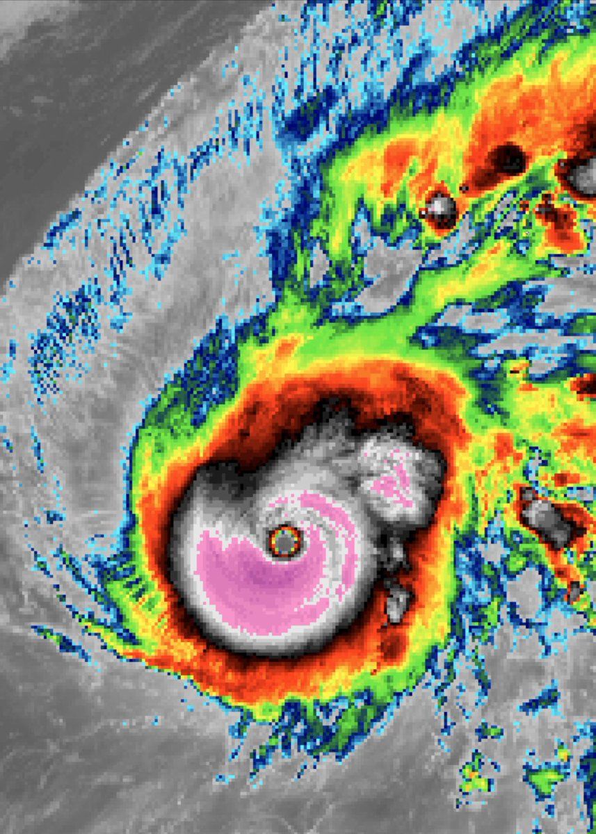 BREAKING: #TyphoonHalong is ONE of the strongest Western Pacific storms in recorded history, winds at 180mph and a pressure of 897mb. And surpassed #HurricaneDorain by pressure for the strongest tropical cyclone worldwide of 2019. An absolute monster of a Category 5 storm. 🌀