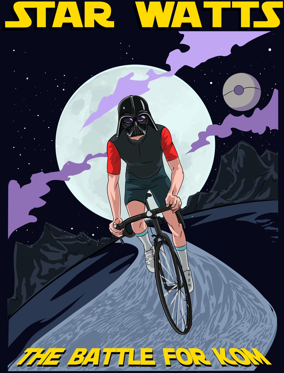 We are very excited about this combination of #Cycling and #Starwars 😎 More info here: http://Veloton.cc #starwatts #velotoncc #ciclismo #cyclisme