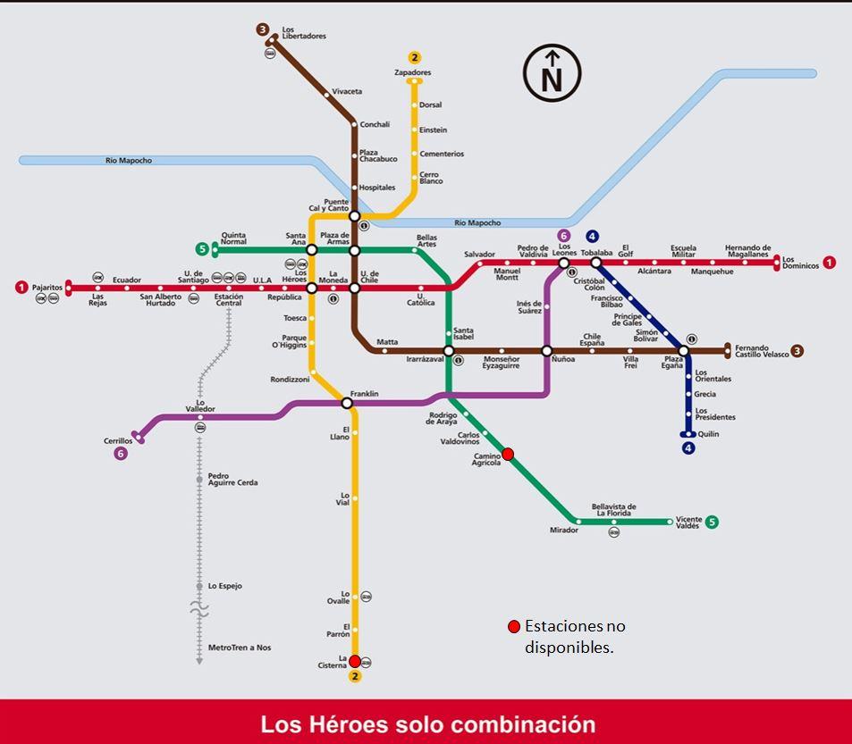 Metro De Santiago On Twitter 17 42 Actualizacion Mapa