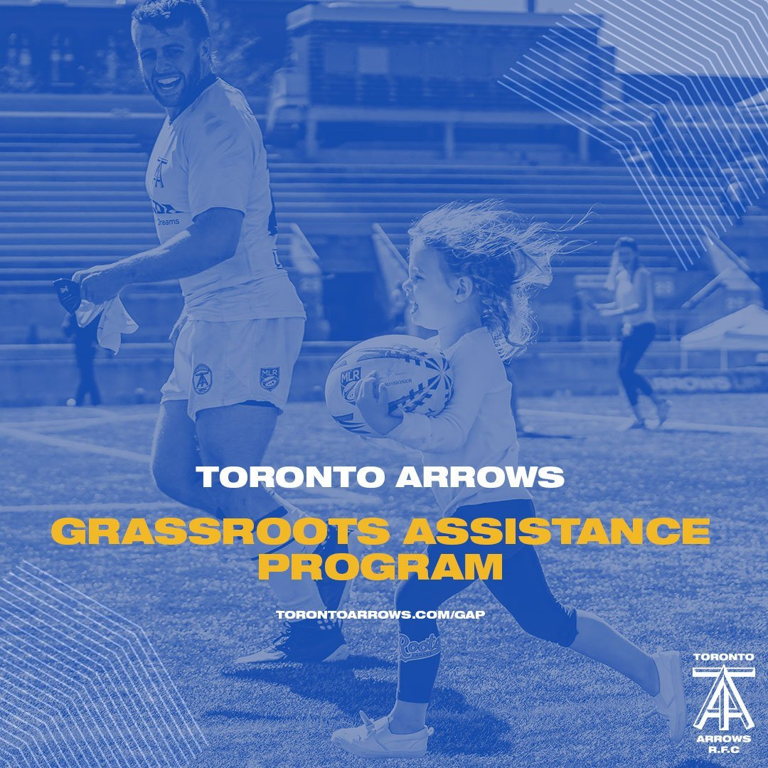 Growing rugby from grassroots up! The @TorontoArrows have just announced their Grassroots Assistance Program, an initiative that gives back to Canadian rugby programs from coast to coast🏉🍁 #RugbyCA #ArrowsUp Read more at torontoarrows.com/about/gap/