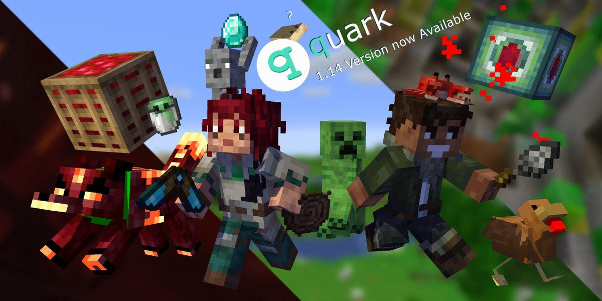 Vazkii S Mods On Twitter It S Time Quark 2 0 For Minecraft Java Edition 1 14 4 Is Now Available Download Quark Https T Co Ky1ilv0rh7 Arl Https T Co Dtjuibtkh7 Release Notes Https T Co Elxc1awltl Rts Appreciated Enjoy And Have