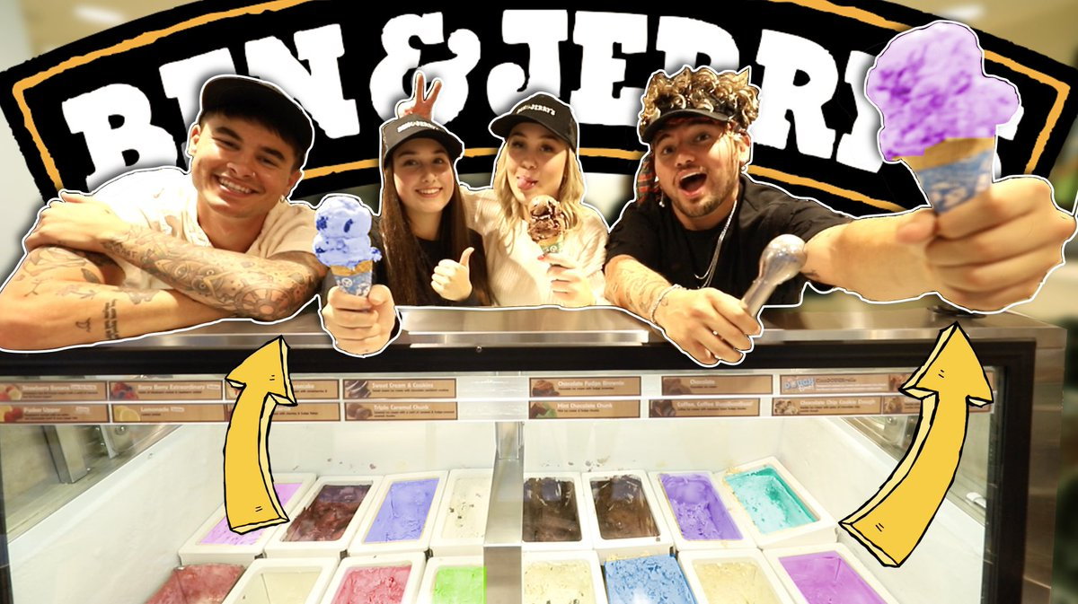 NEW VIDEO!!! We tried EVERY flavor of ice cream @ @benandjerrys 🤪🍦🍦🍦🍦 youtu.be/BJAV4MFX2M4