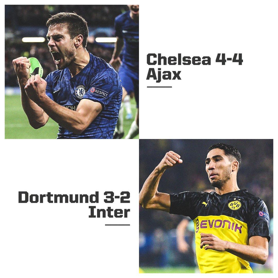 Chelsea were down 4-1. Dortmund were down 2-0.  Gotta love the Champions League. <br>http://pic.twitter.com/cdQON95mW0