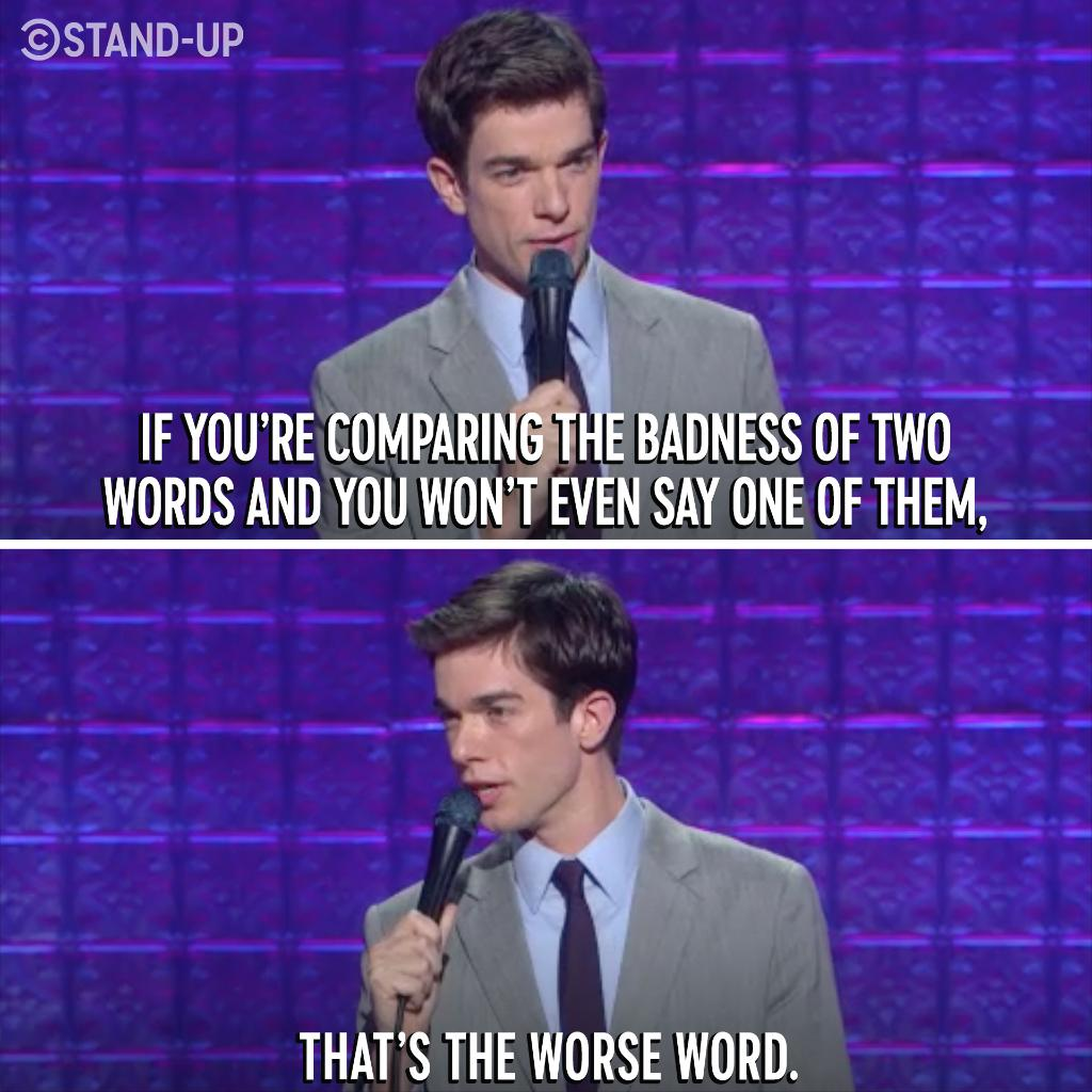 """Comedy Central Stand-Up on Twitter: """"Not sure how offensive a word is? @ mulaney has a cheat sheet for you. https://t.co/p0cKgQNrCK… """""""